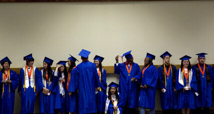US high school graduation rate inches past 75 percent