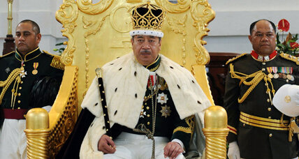 George Tupou V, King of Tonga, introduced democracy