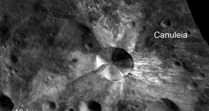 Photos of asteroid Vesta reveal bright, ancient rock and dark, melted stone