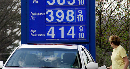 Gas prices, still climbing, are now just one thin dime from $4 a gallon