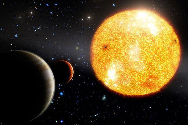 An Artists Conception Of HIP 11952 And Its Two Jupiter Like Planets