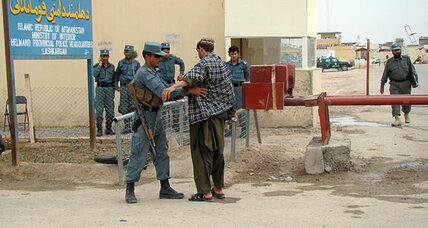 Afghan policeman attacks colleagues, undermining cornerstone of US strategy
