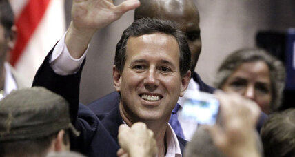 Fresh from Illinois defeat, Santorum looks south