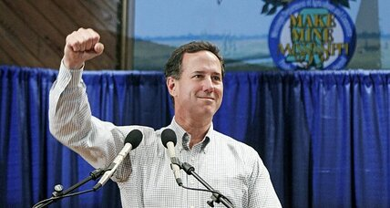 Santorum takes Kansas in a rout, Romney strong in Wyoming