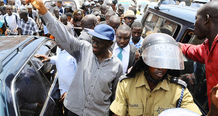 Uganda's opposition marches again, this time violently