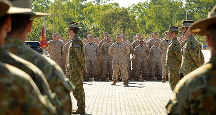 Keeping an eye on China? First US Marines arrive in Australia.