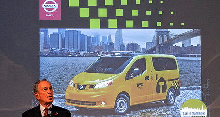 New York's next-gen taxis: moonroofs and phone chargers
