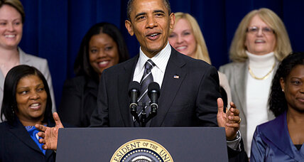 With an eye on female vote, Obama touts progress for women