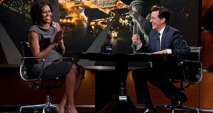 Michelle Obama on 'The Colbert Report': Did she get the best of him? (+video)