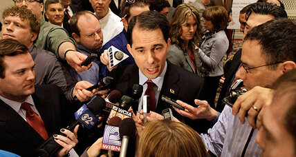 Why recall target Gov. Scott Walker is taking his message to Illinois
