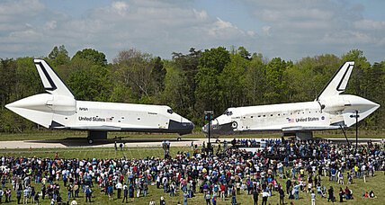 Will visitors be allowed on board the Space Shuttle Discovery?