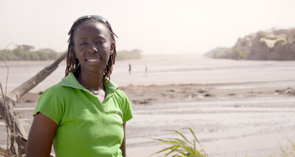 A Kenyan woman stands up against a massive dam project