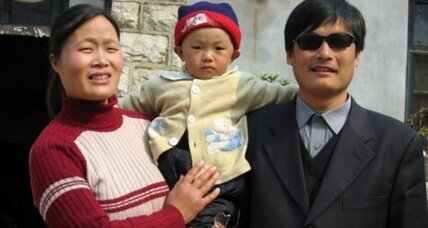 What's right in this picture? A Chinese dissident in US custody