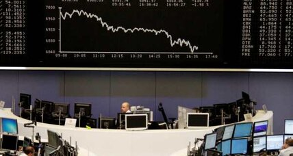 Stock market rise fades on Europe's slump