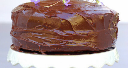 Chocolate sour cream layer cake
