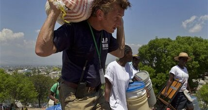 Actor-activist Sean Penn says he's in Haiti for the long haul