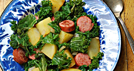 Quick comfort: Meat and potatoes (and kale)