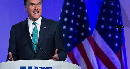 As Santorum fades, Mitt Romney attacks Obama for flip-flopping (+video)