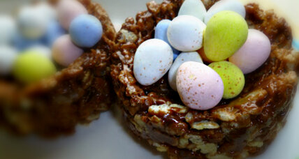 Nutella Rice Krispies Easter baskets
