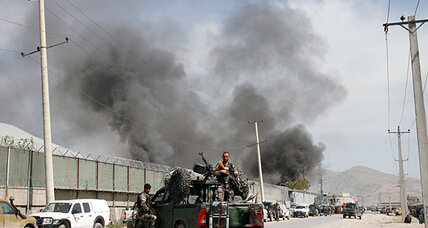 With blast, Taliban respond to Obama: 'You need to focus on leaving' (+video)