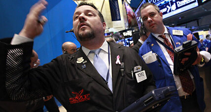 Stocks break losing streak. Barely.