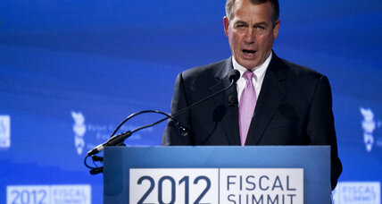 Boehner draws line in sand on debt ceiling
