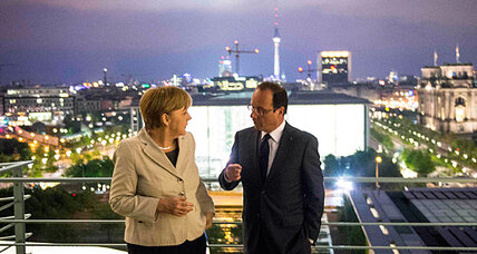 Merkel, Hollande pledge to find common ground on European growth