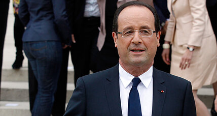 Bonjour, Hollande. Ready for a gentle arm-twisting at the White House?