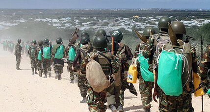 Somalia, African Union forces attack Islamist-held camp