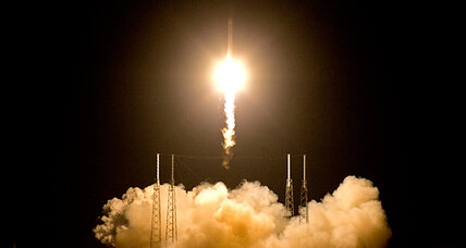 SpaceX rocket on its way to outer space