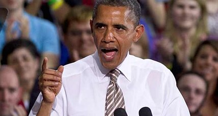 Obama blames Romney for spreading 'cow pie of distortion.' Is he right? (+video)