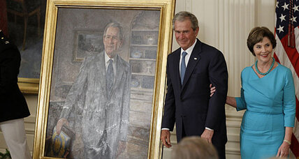 George W. Bush presidential portrait is unveiled. Who paid for it? (+video)