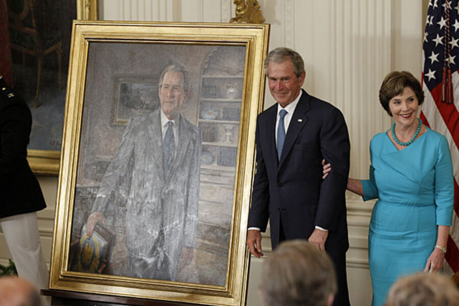 George W Bush Presidential Portrait Is Unveiled Who Paid For It