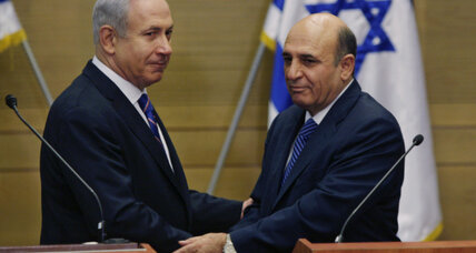 Broad coalition in Israel shows Netanyahu's centrist colors