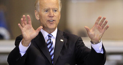 On campaign trail, Biden paints Romney as corporate raider