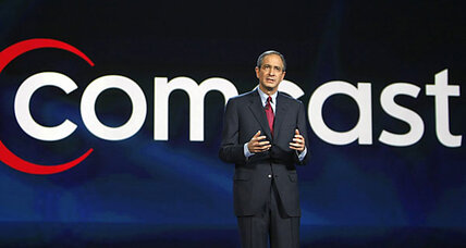 Comcast stock: Earnings up. Price falls from peak.