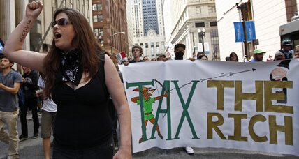 Protesters in Chicago call for 'Robin Hood' tax