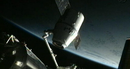 SpaceX Dragon capsule homeward bound