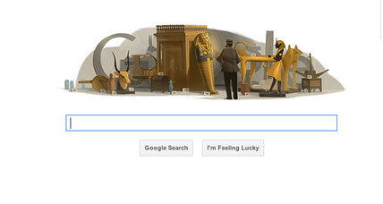 Google Doodle: Howard Carter and the pharaoh's curse