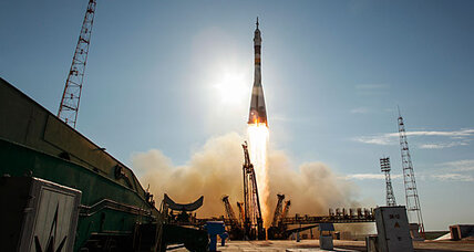 Russian Soyuz (finally) lifts off for space station