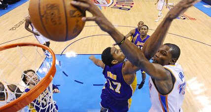 NBA playoffs: Thunder rolls over Lakers, 76ers nip Celtics