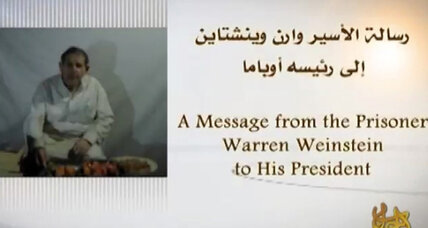US hostage Warren Weinstein makes plea to Obama in Al Qaeda video (+video)