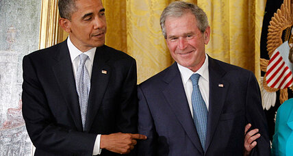 Bush and Obama at the White House: Why the yukfest? (+video)