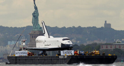 Space shuttle Enterprise arrives at New York's Intrepid museum