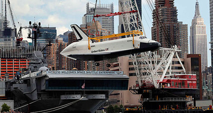 Space Shuttle Enterprise arrives in New York. Where will the other shuttles go? (+video)