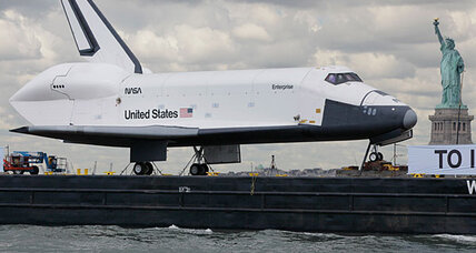 Space Shuttle Enterprise sails to New York