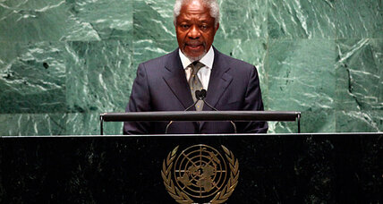 Kofi Annan blames peace failure on Syrian government