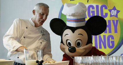 Disney bans junk food, Mickey Mouse brands health. Hmmm...