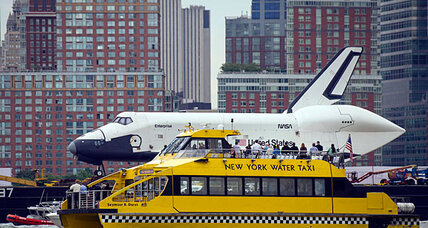 Space Shuttle Enterprise arrives in New York City