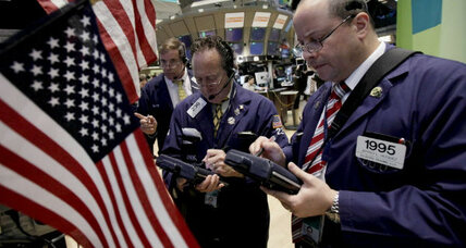 US stocks end lower as Europe teeters